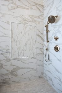A newly renovated shower