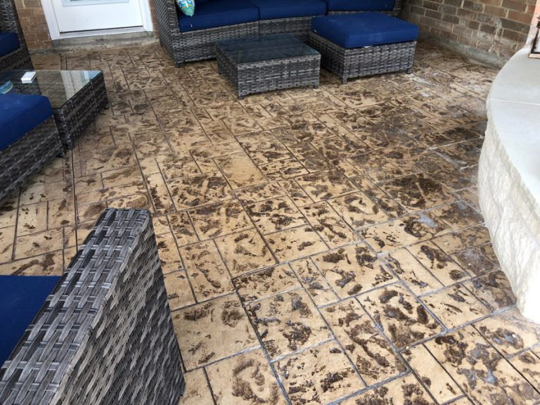 stamped concrete patio patterns and designs